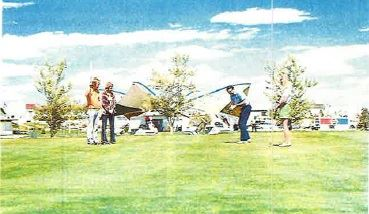 Golfers at the Pueblo West Golf Course